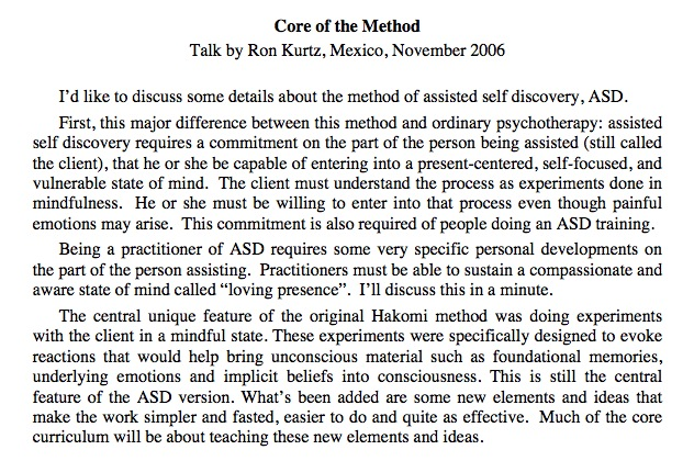 Core of the Method